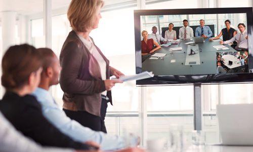 Unternehmer, Kollegen, Menschen, Kollegen, telefonieren, web-Konferenzen