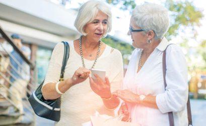 Unternehmer, alternde Gesellschaft, Senioren, Frauen Rentner