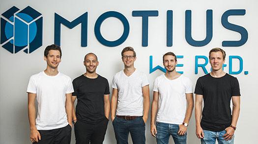 Das Gründerteam von der Firma Motius GmbH