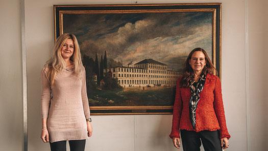 v.l.: Yvonne Steinbrecher und Annette Roeckl