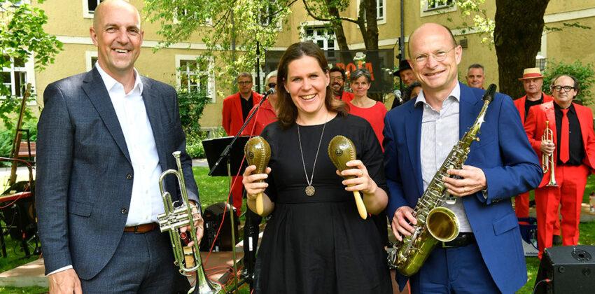 Vorstand Stefan Hattenkofer, Bürgermeisterin Verena Dietl und SVB Präsident Prof. Dr. Ulrich Reuter*