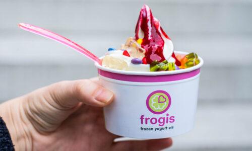 München-Vorteil, Frozen Yogurt, Waffel, Geschmack, Frogis